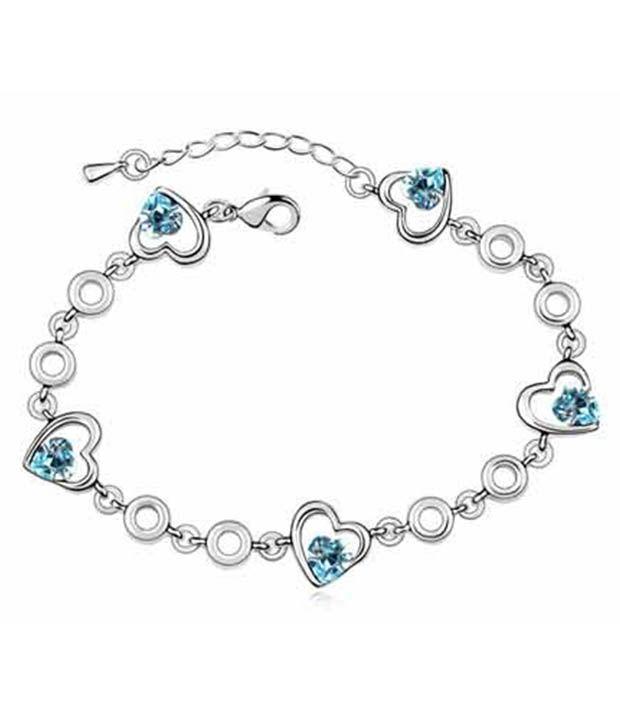 Silver Shoppee Silver Hearts Bracelets