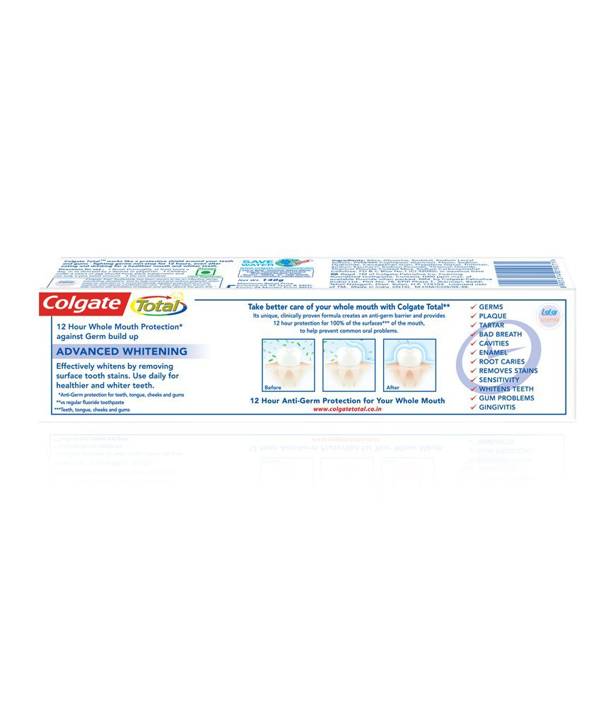 Colgate Total Advanced Whitening Toothpaste 140gm Buy Colgate Total Advanced Whitening Toothpaste 140gm At Best