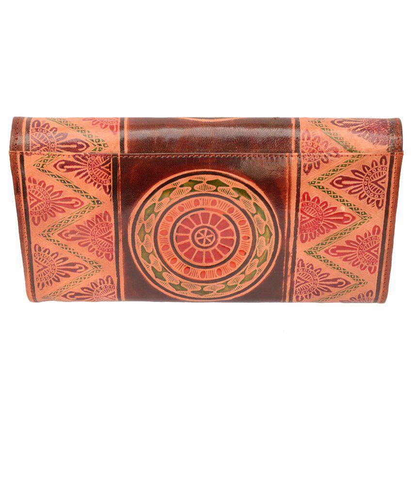Foppish Mart Multicolour Leather Regular Wallet For Women