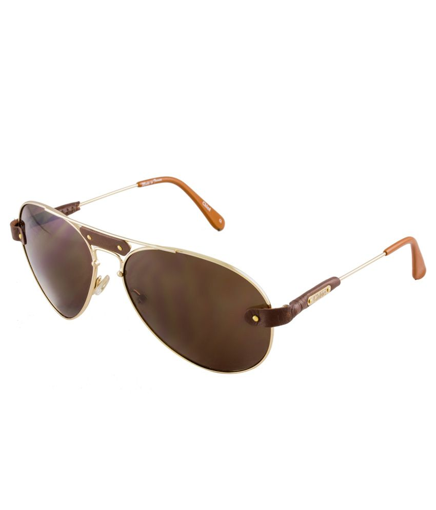 4feb561165b06 Chloe Brown Medium Men Oval Sunglasses - Buy Chloe Brown Medium Men Oval  Sunglasses Online at Low Price - Snapdeal