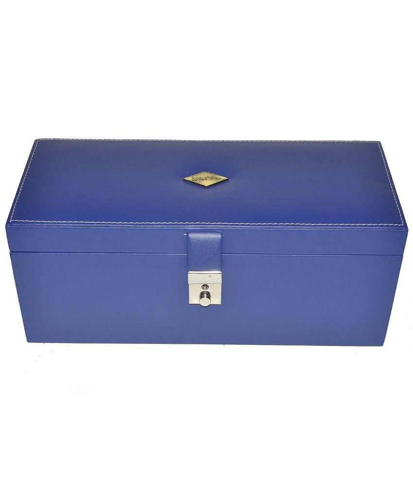 Laveri Vanity Jewellery Box Fits in Bank Locker - Blue