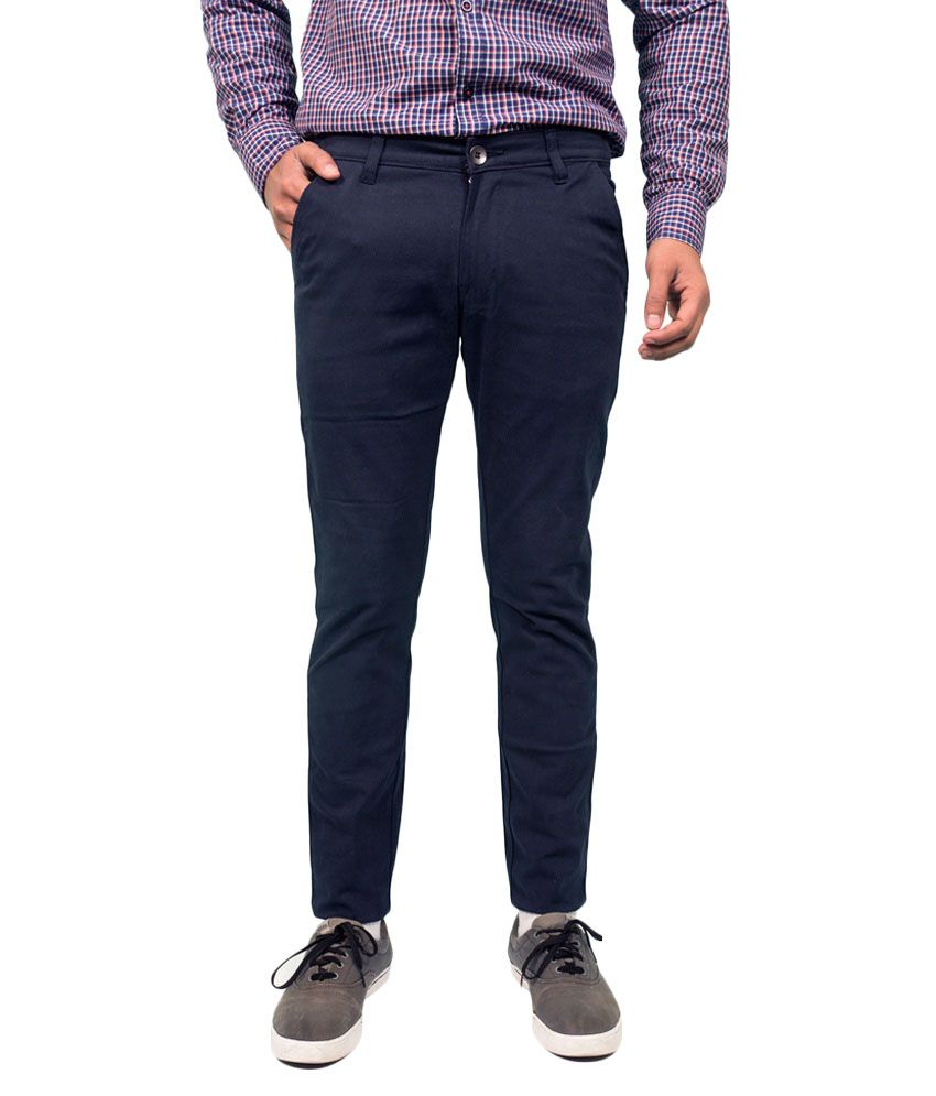 Made In The Shade Navy Slim Fit Chinos