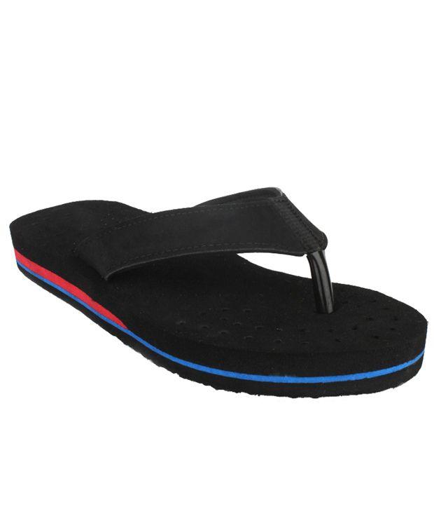 11e Black Flip Flops