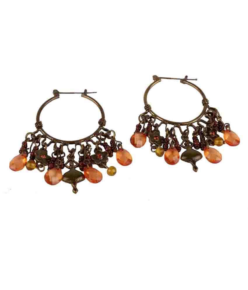 Chickraft Multicolour Glass Drop Earrings