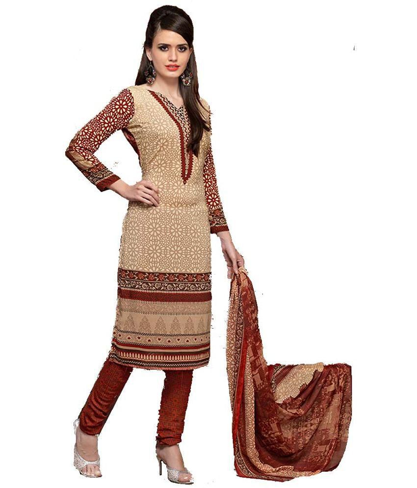 Aadya Beige Others Unstitched Dress Material