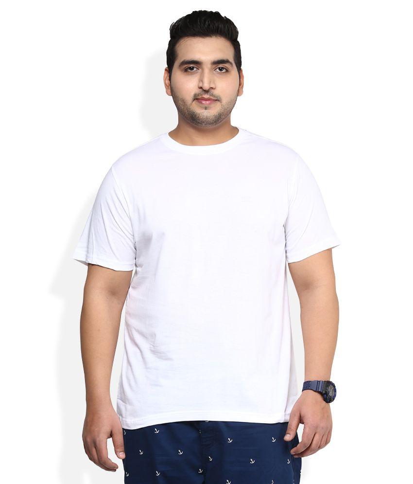 Alto Moda By Pantaloons White Solid T-Shirt