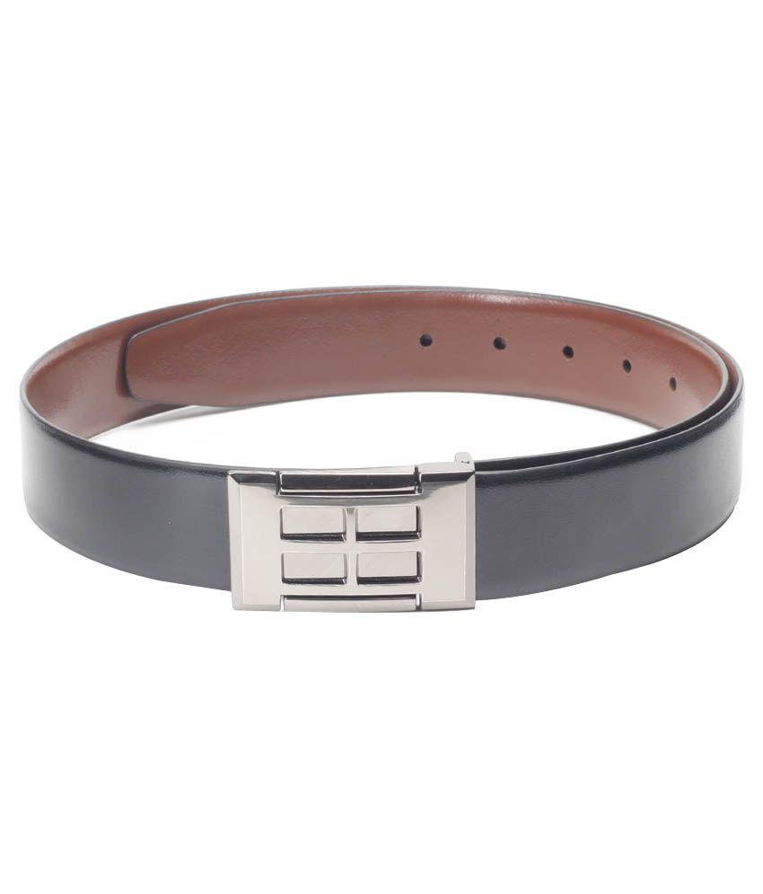 Chisel Black Reversible Leather Belt For Men