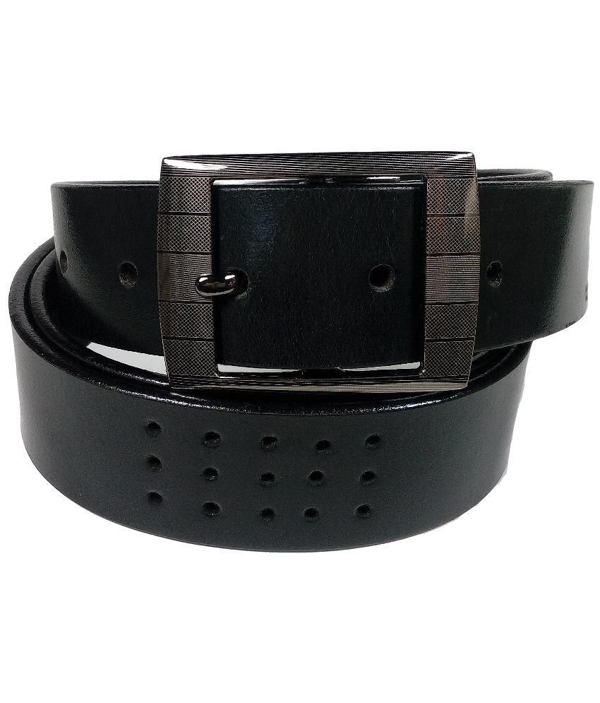 Cob Goshin Black Leather Belt