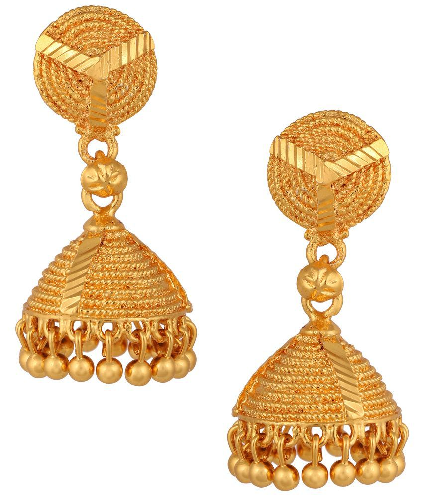 Fashionaya Golden Jhumki