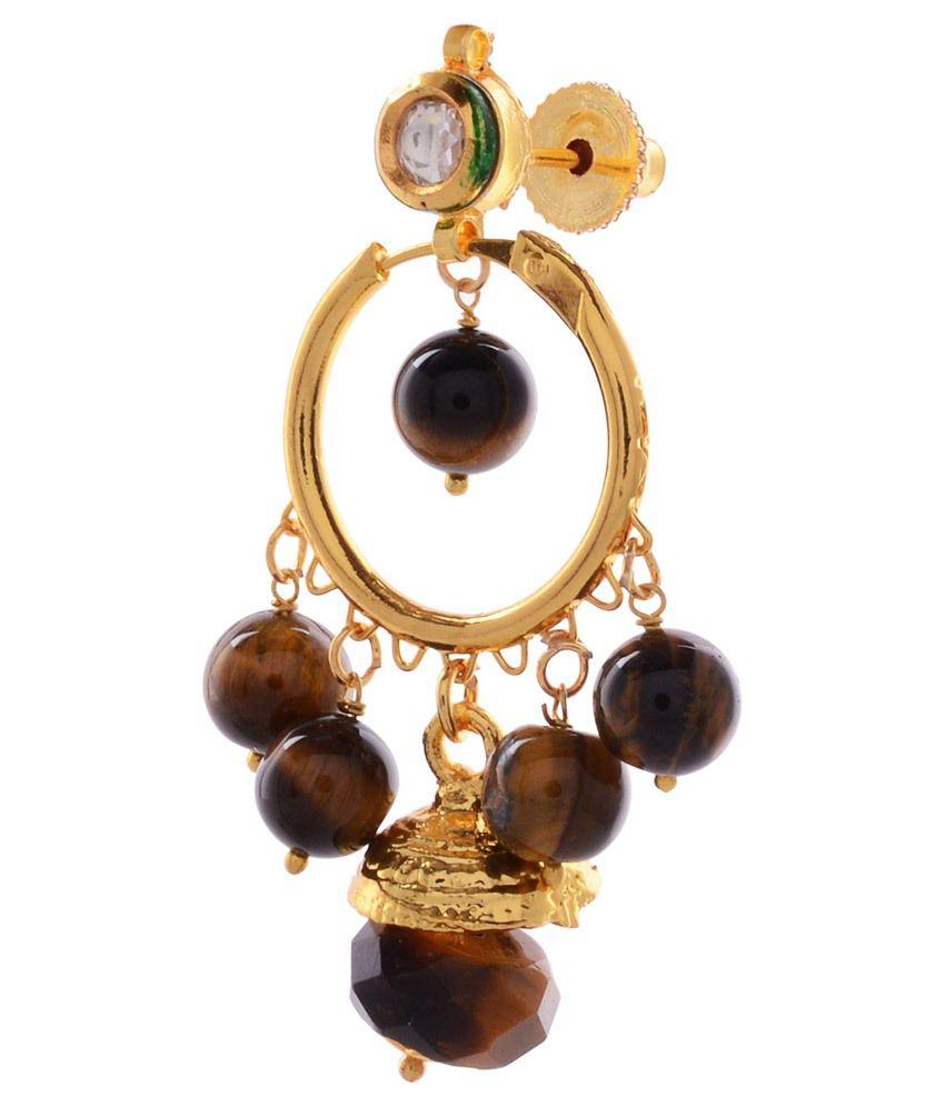 Gehnamart Golden Alloy Hanging/dangle Earrings