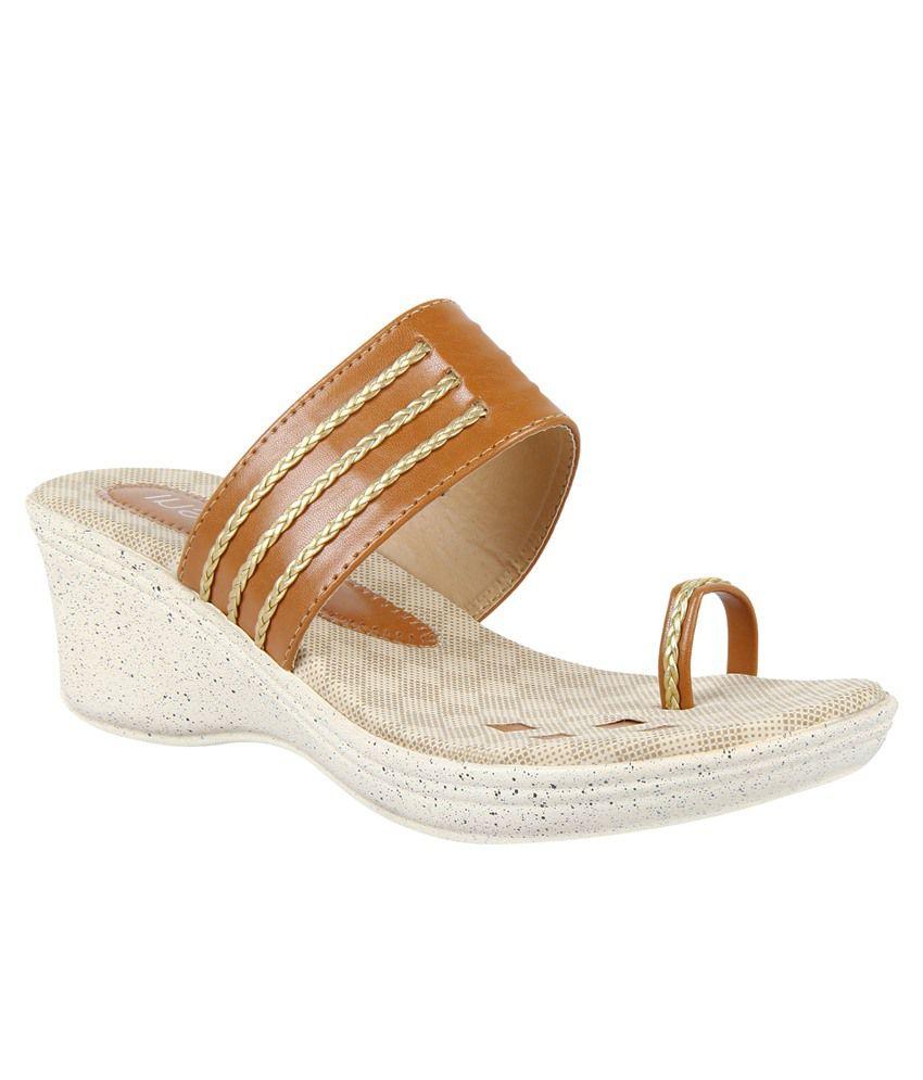Insign Tan Wedges Heels