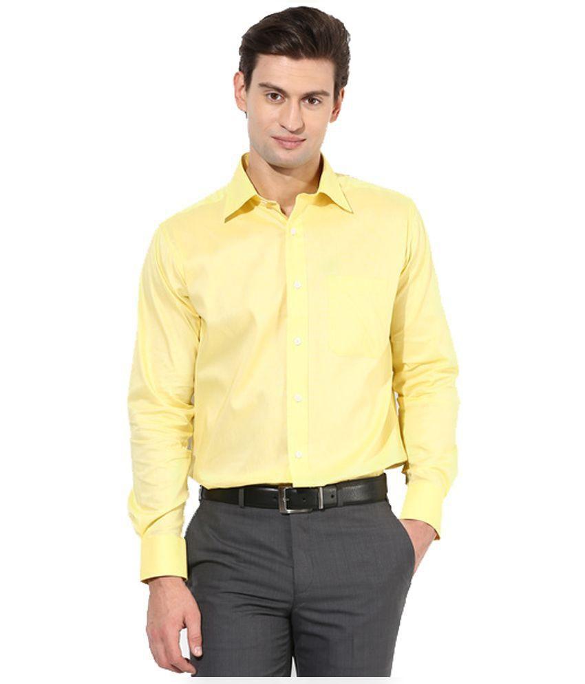 Rvc Yellow Regular Fit Shirt