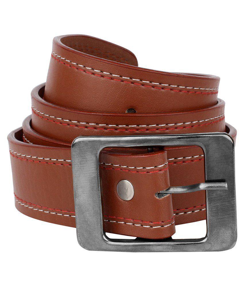 Rocksy Brown Leather Belt For Men