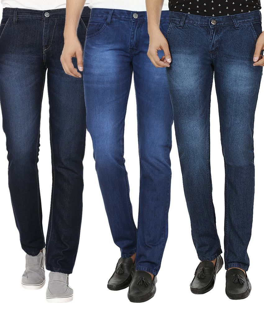 Club Vintage Blue Slim Fit Jeans - Combo Of 3