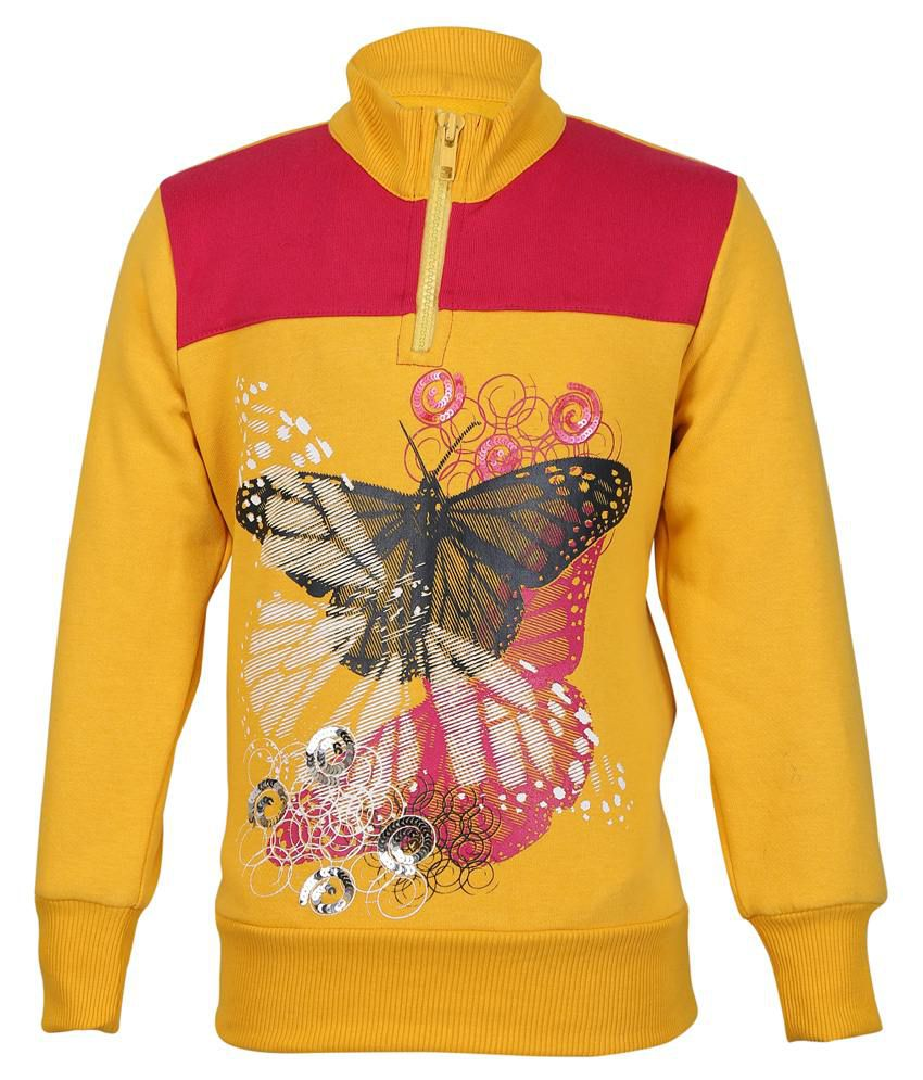 Cool Quotient Yellow Sweatshirt For Girls