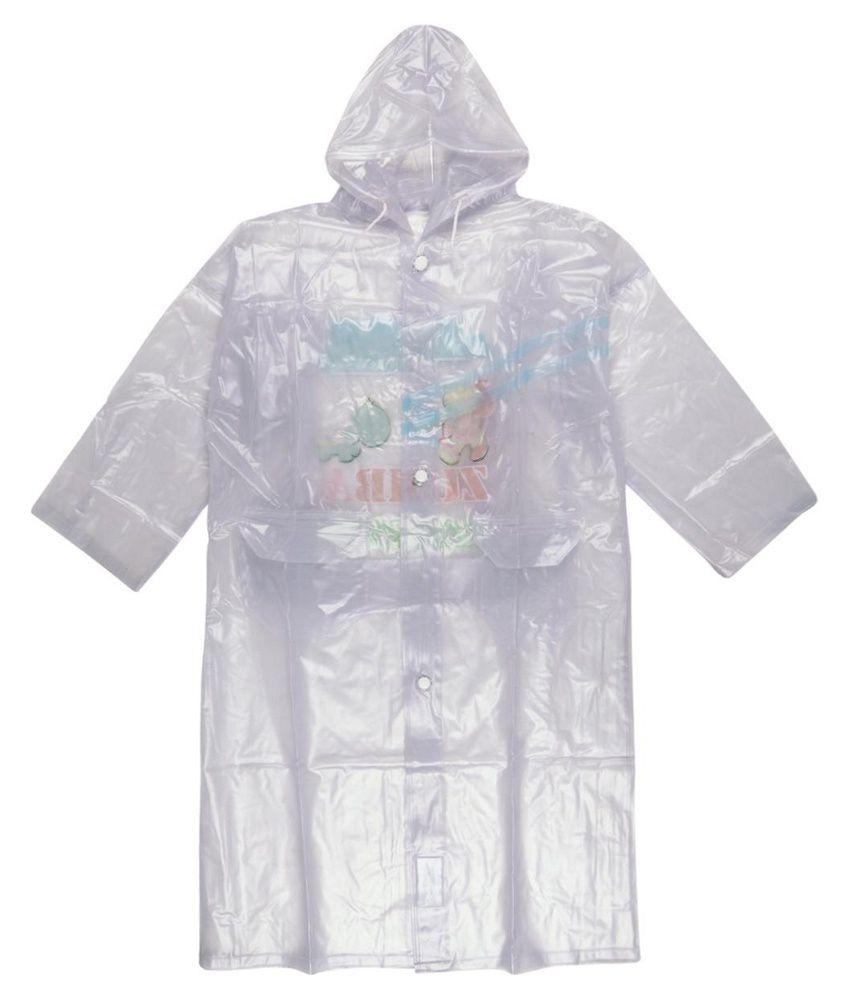 Ollington St. Collection White Full Sleeves Rainwear Jacket