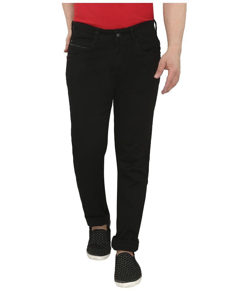Louppee Black Slim Fit Jeans