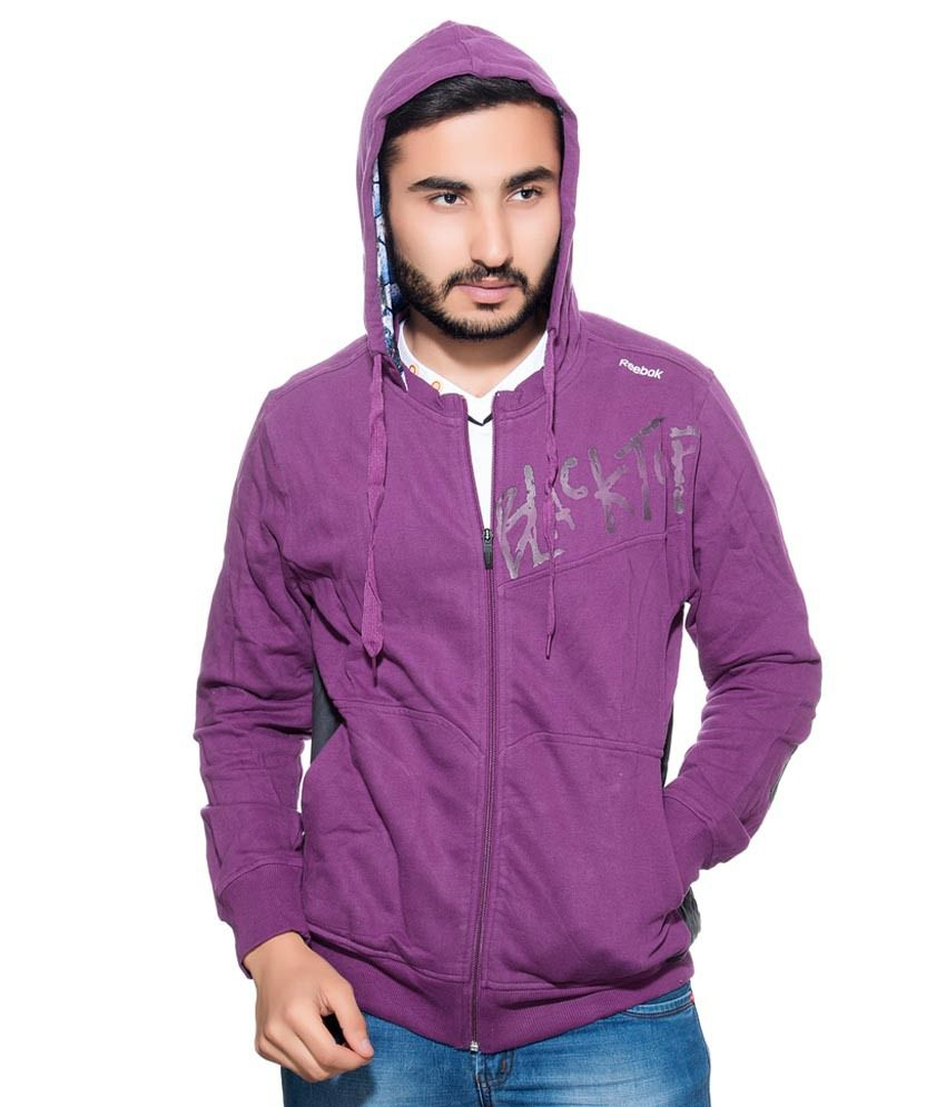 6ab8840bd Reebok Purple Full Sleeve Cotton Jacket - Buy Reebok Purple Full Sleeve  Cotton Jacket Online at Low Price in India - Snapdeal