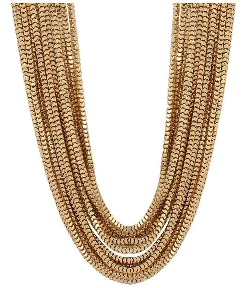 Fayon Contemporary Statement Unique Multi-layer Gold Chain Necklace