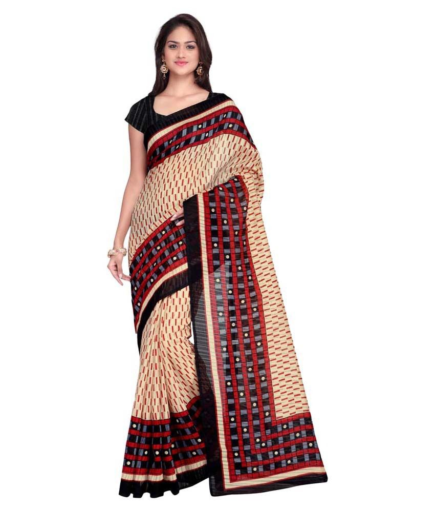 Kajal Sarees Multicoloured Mysore Silk Saree