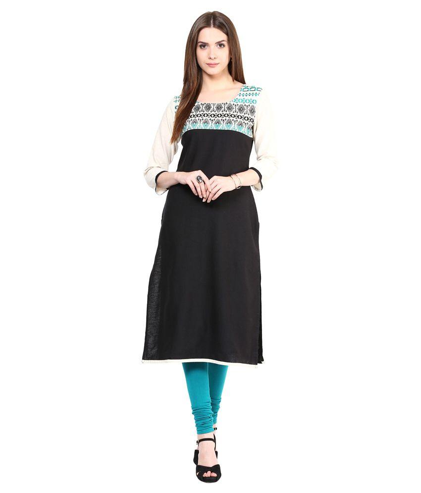 Prakhya Green Straight Viscose Kurti