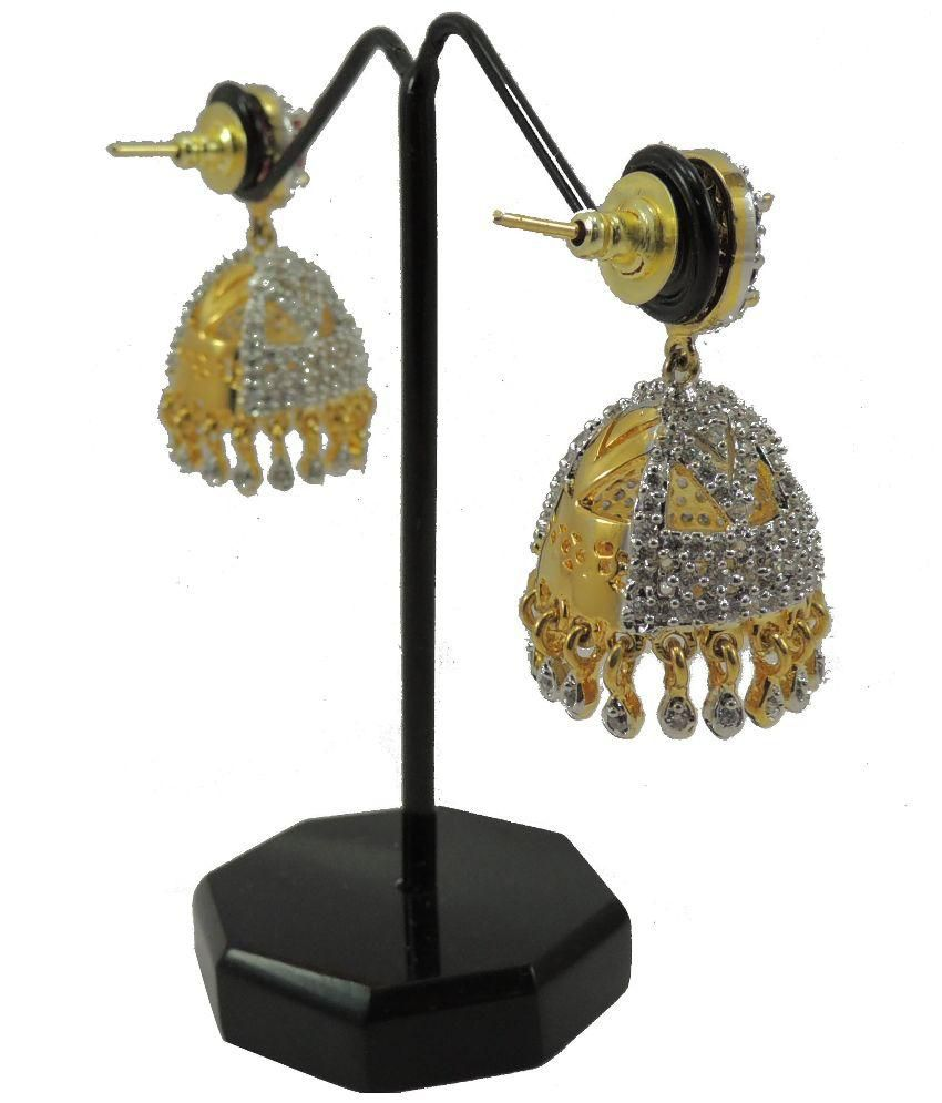 Bharat Sales Golden Designer Earrings