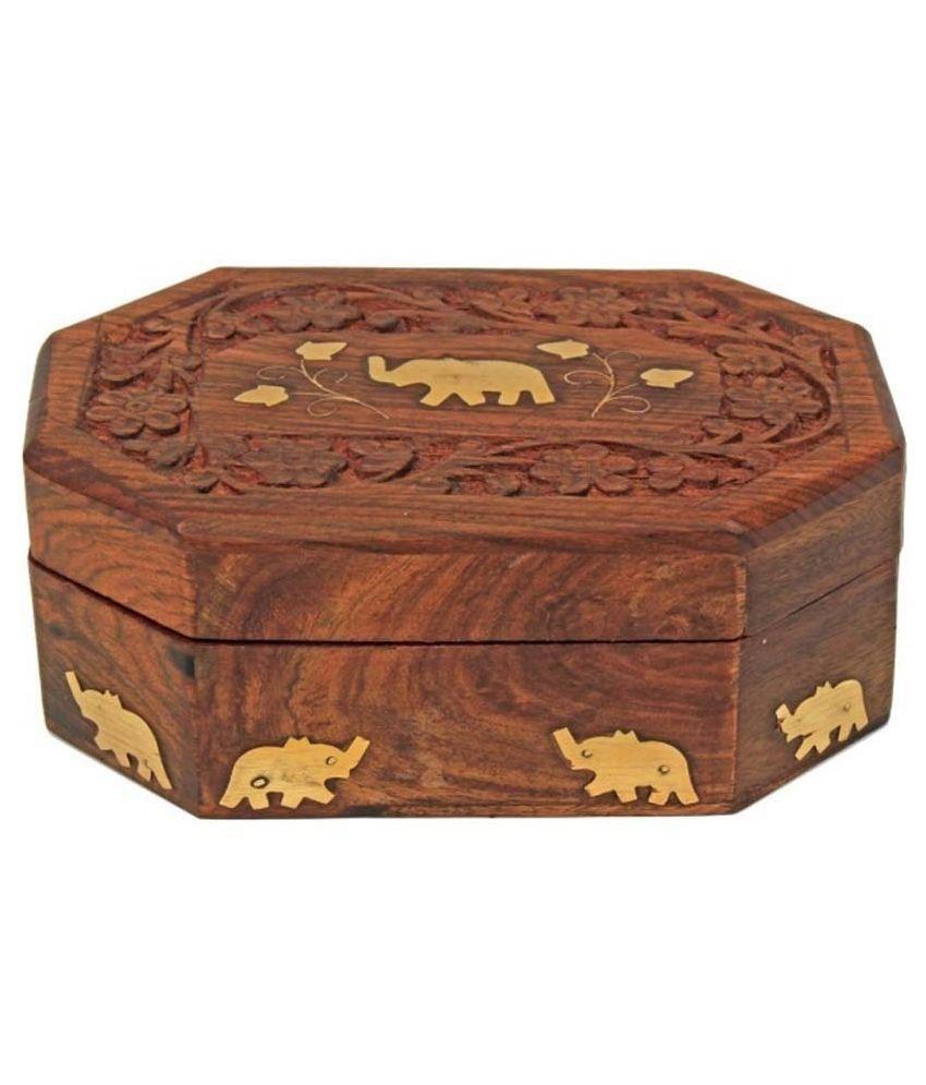 Zitter Wooden Jewellery Box - Brown
