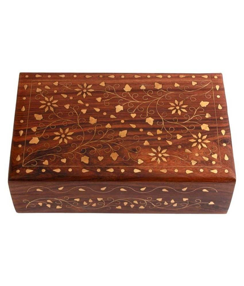 Zitter Wooden Jewellery Box - Brown