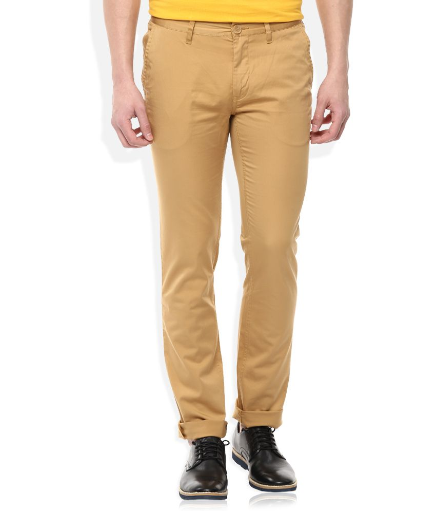 John Players Khaki Slim Fit Chinos