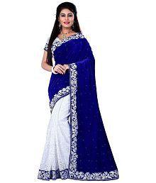 Awesome Multicoloured Velvet Saree