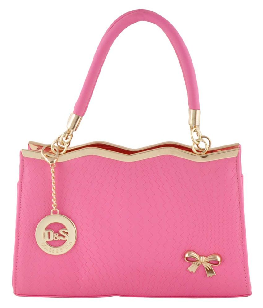 Dolse & Stela Pink P.u. Shoulder Bag