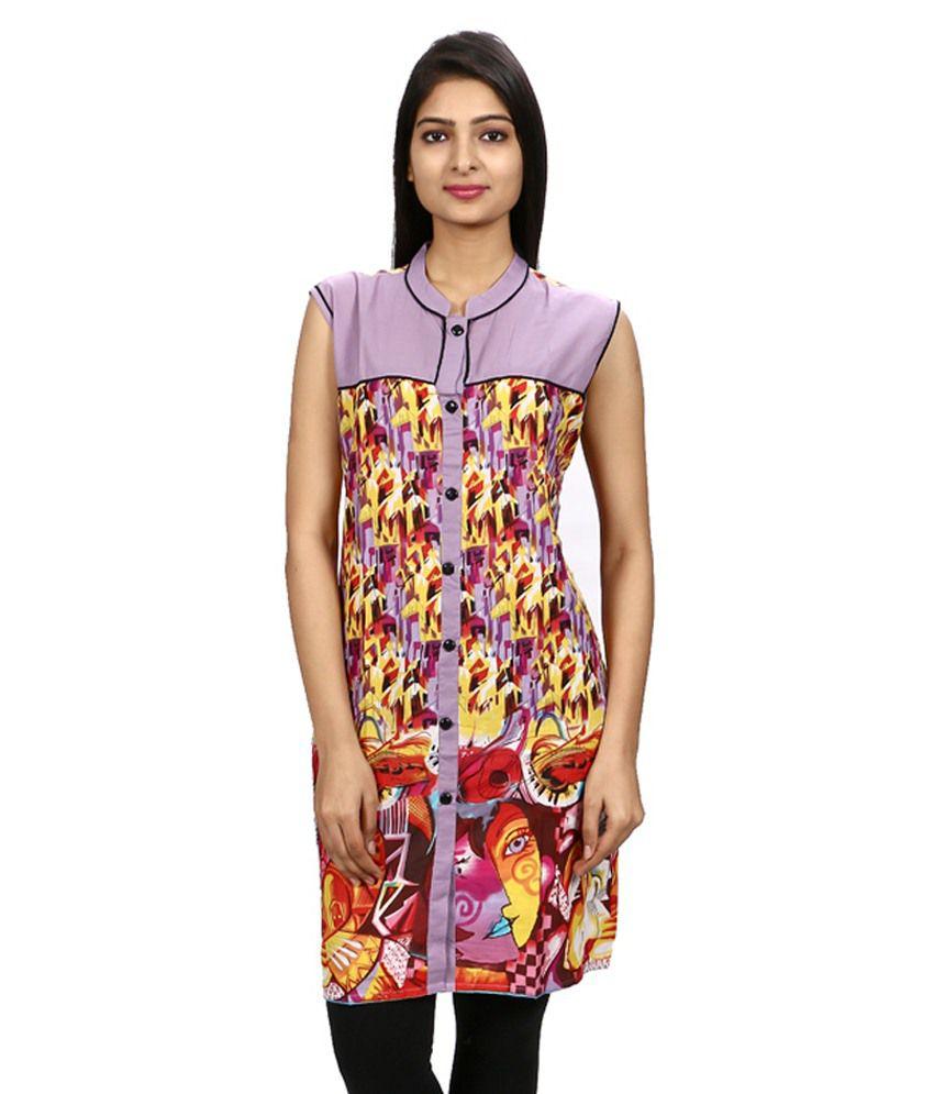 Kiran Modes Multi Color Straight Cotton Kurti
