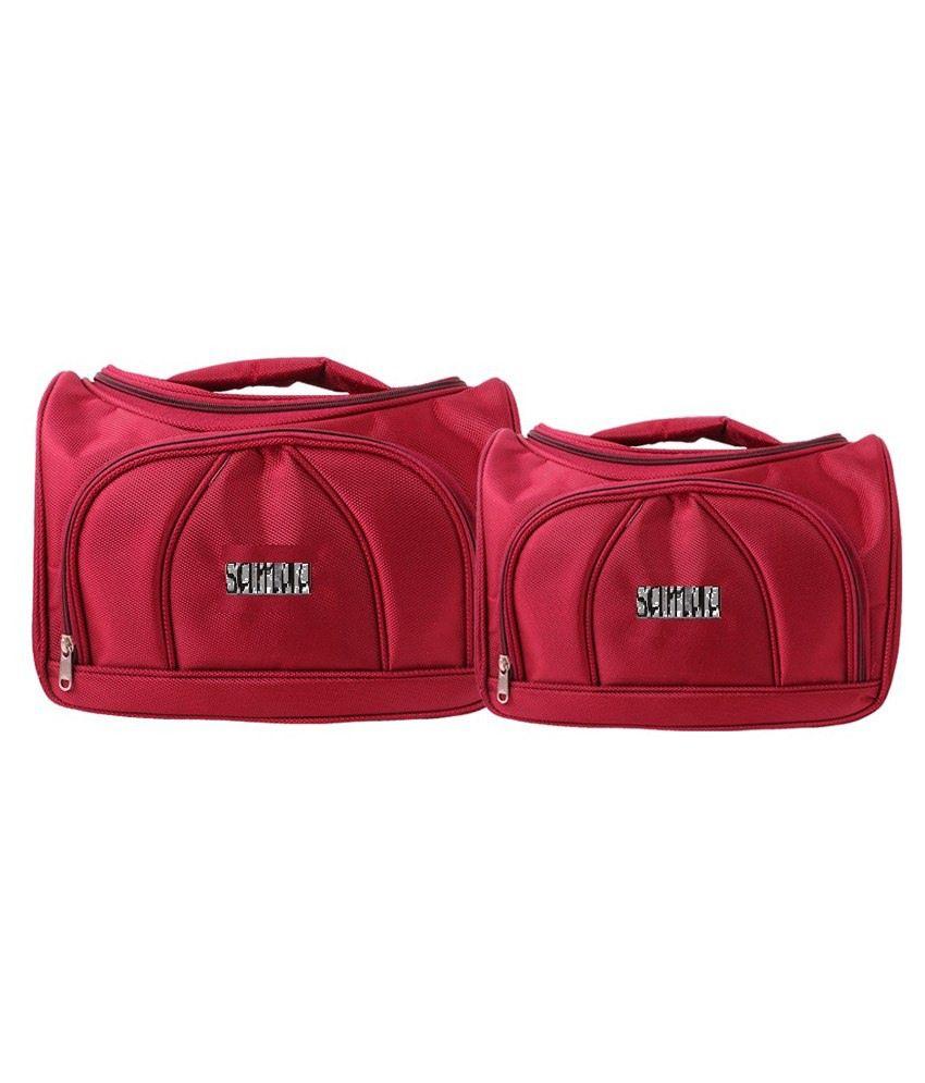 Samaa Vanity Bag Combo Of 2-maroon