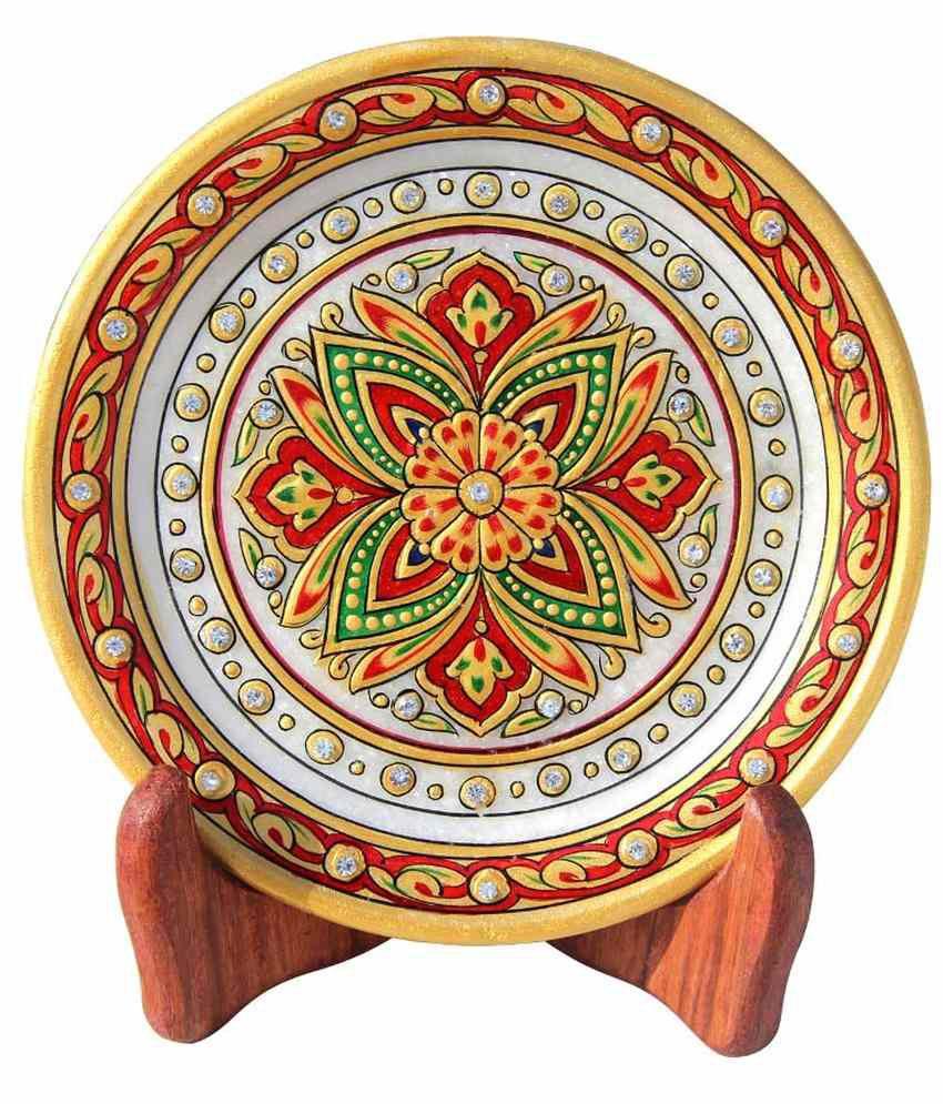Handicrafts Paradise Multicolour Marble Decoratives Bowls Plates