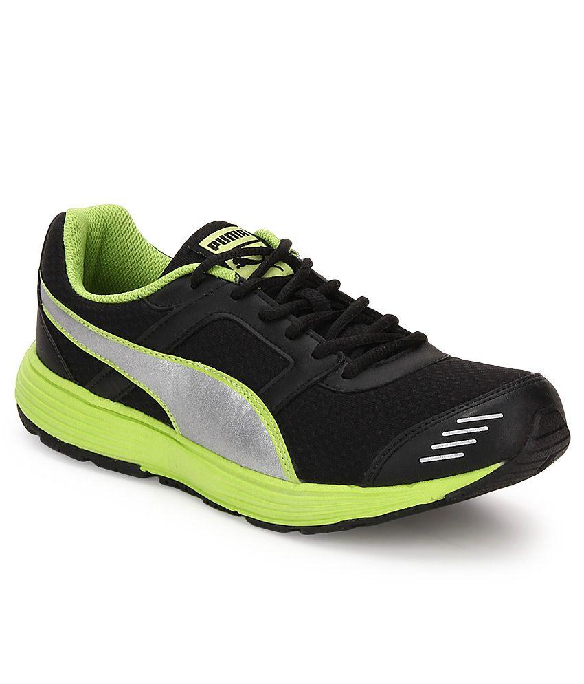 Puma Harbour Fashion Black Running Sports Shoes