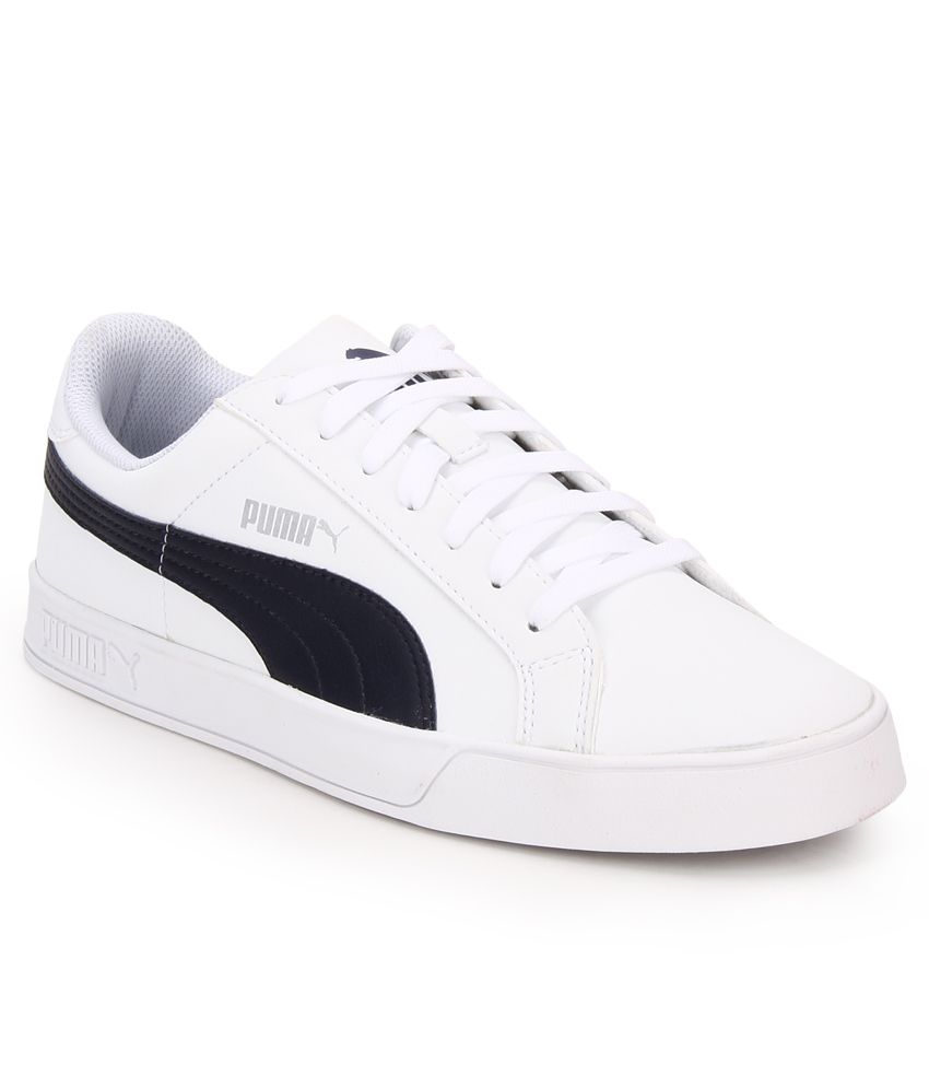 Puma Smash Vulc White Lifestyle Casual Shoes ...