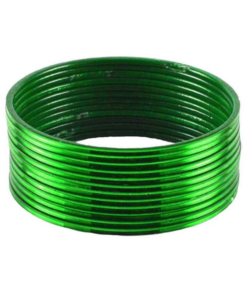 Faa Green Stainless Steel Bangle Set (12 Pieces)