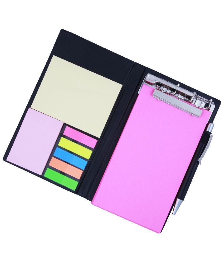 COI Memo Note Pad and Memo Note Book With Sticky Notes and Clip Holder In Diary Style - Black