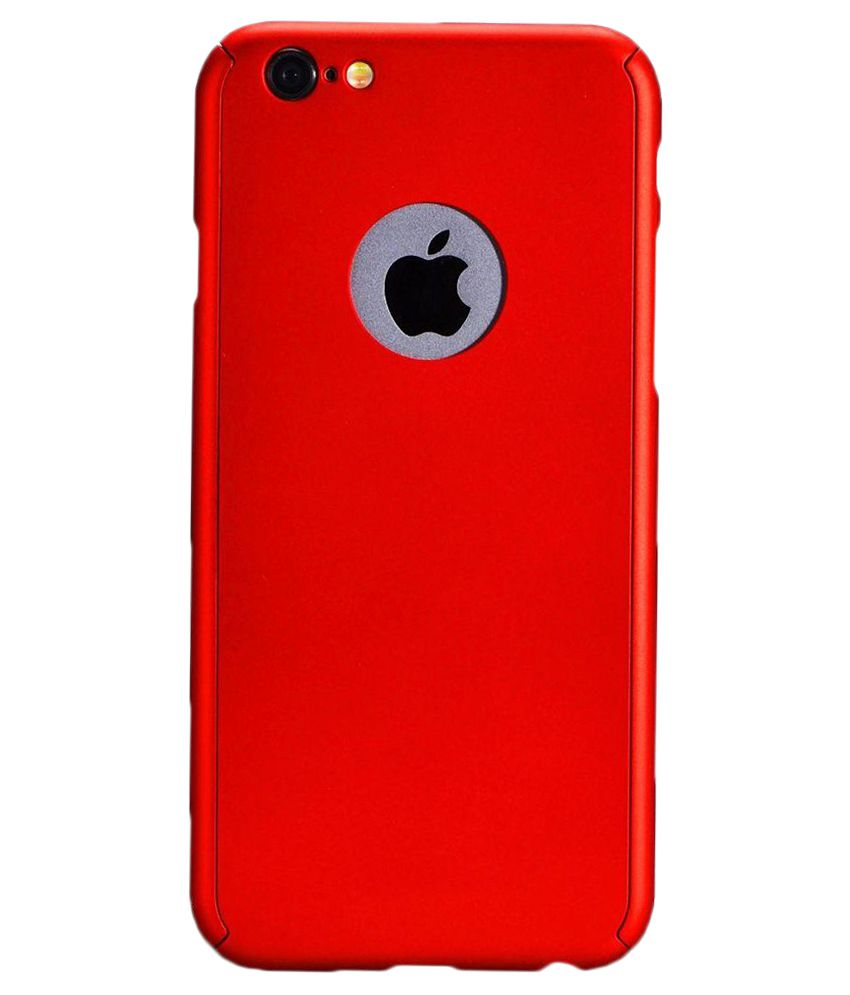 new product c2223 f2693 Ipaky Back Cover for Apple iPhone 6/6S (Red) with Tempered Glass