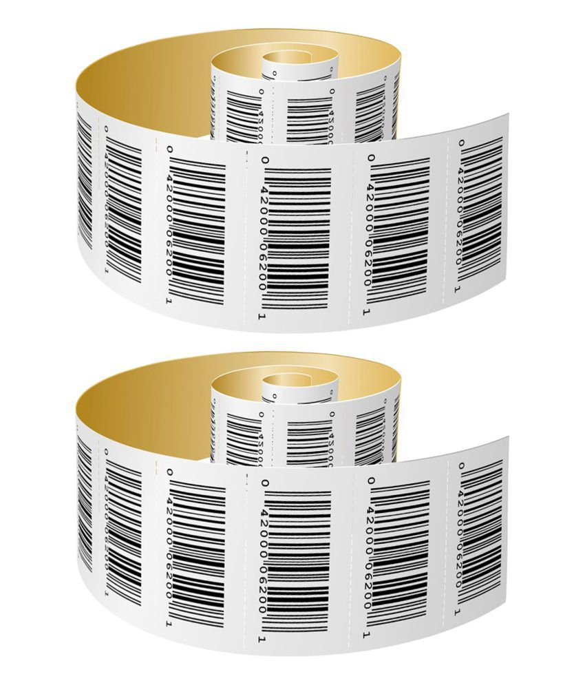 Vip Papers Bar Code Paper Roll - Pack Of 2