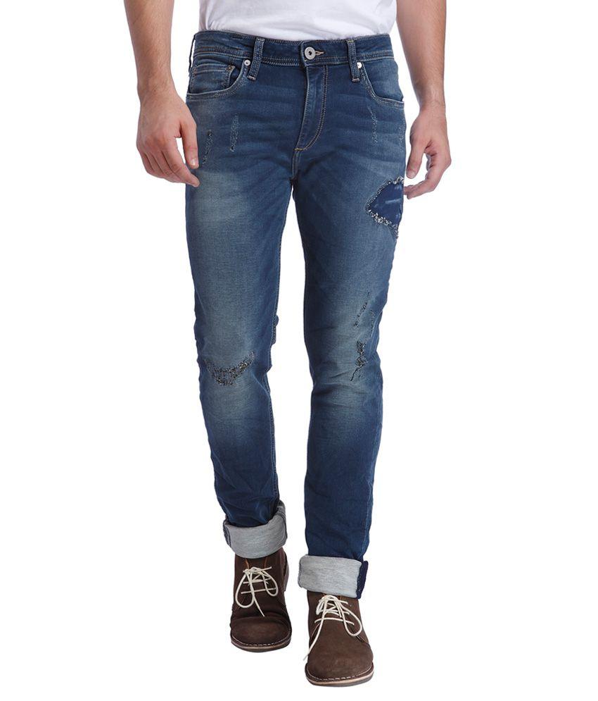 Jack & Jones Blue Skinny Fit Jeans
