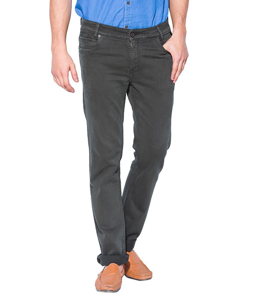 Mufti Grey Slim Fit Jeans