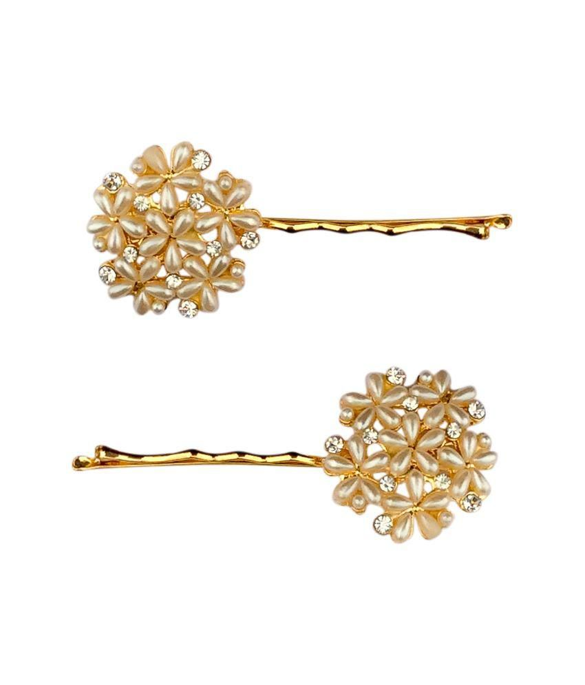40769b7db5 B-Fashionable Golden Hair Pins: Buy Online at Low Price in India - Snapdeal