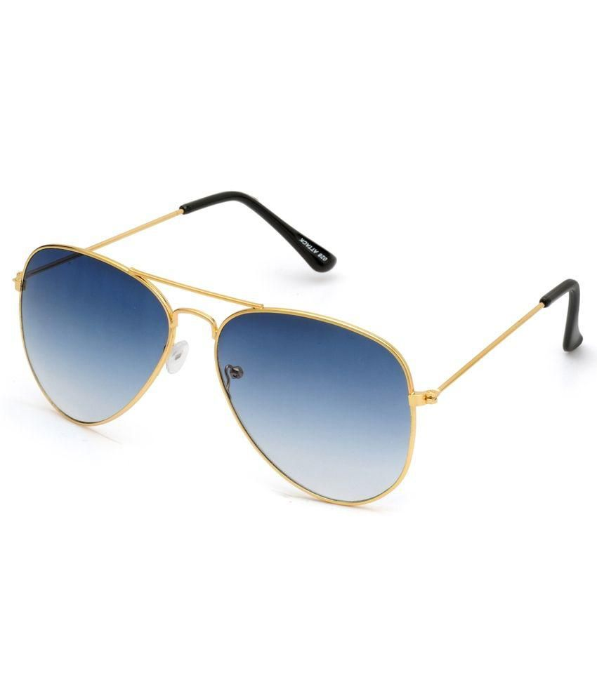 HH Blue Aviator Sunglasses For Men