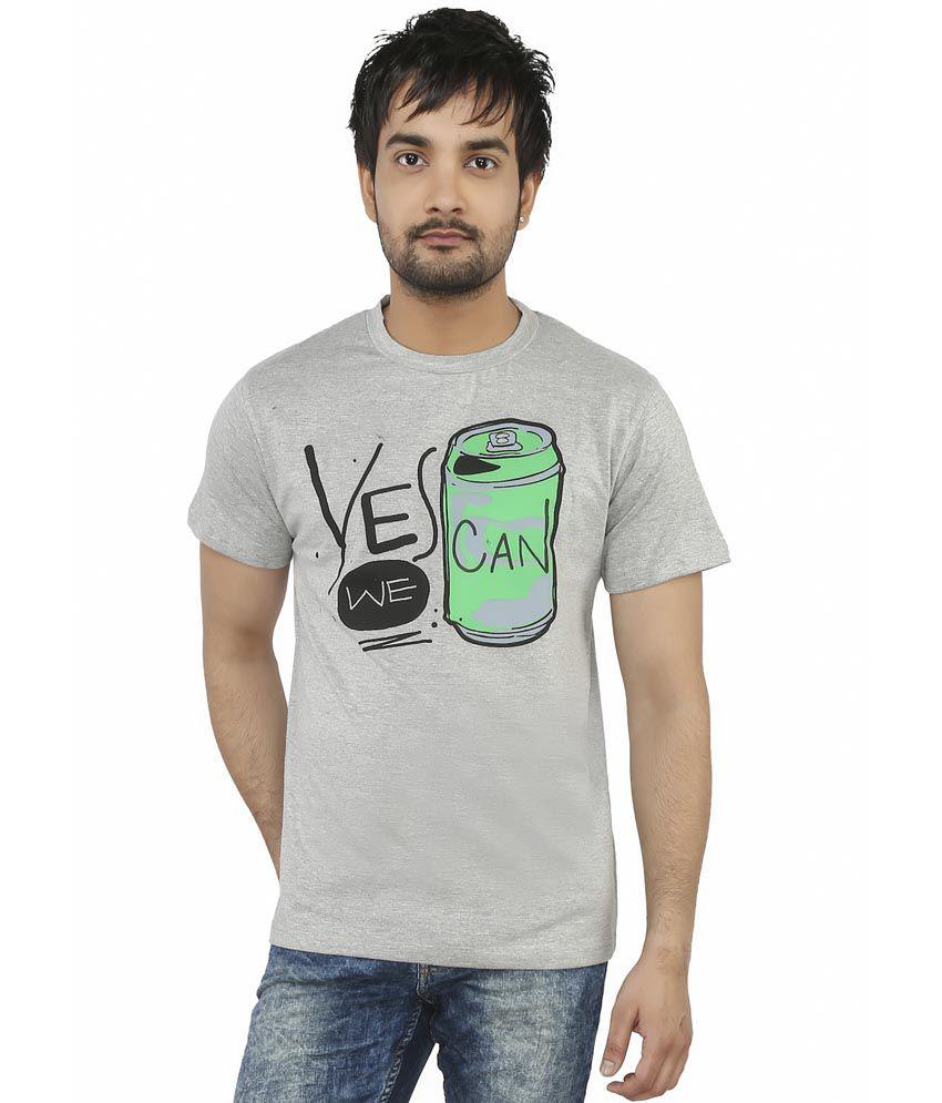 Imagica Grey Cotton Blend T-shirt