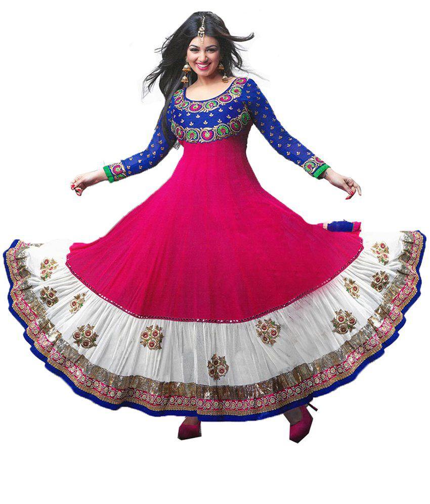 Mf Retail Multicoloured Georgette Dress Material Buy Mf