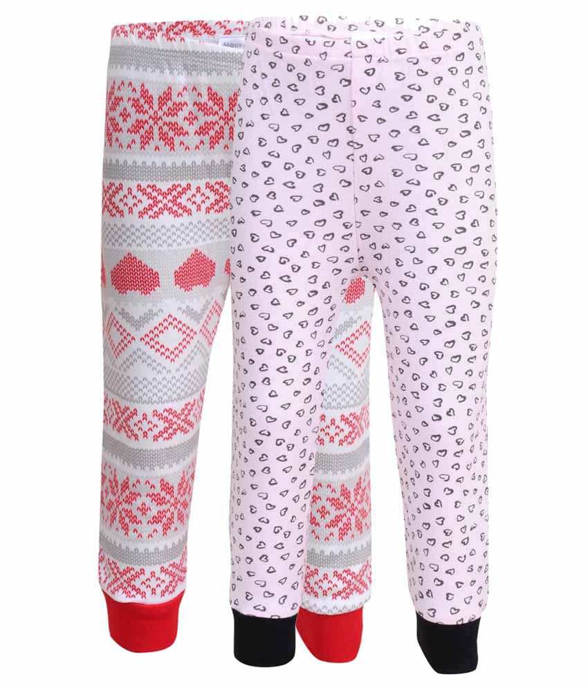 Most Wanted Knitted Printed Girls 2 Pcs Capris-mw-021-mw-022_6-7yrs