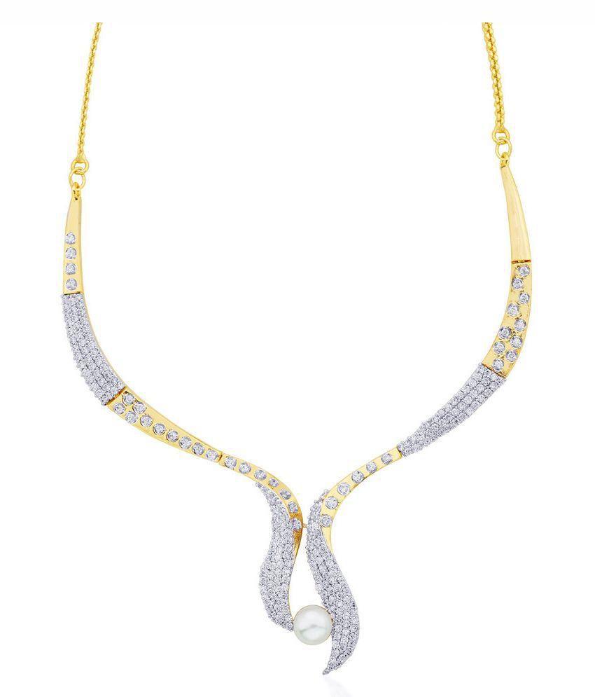 Cuzibox Golden and Silver Necklace Set