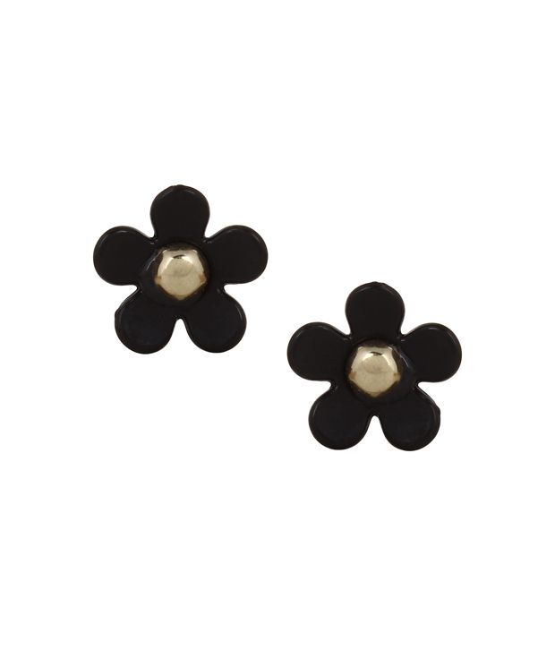 Fayon Black Alloy Earrings