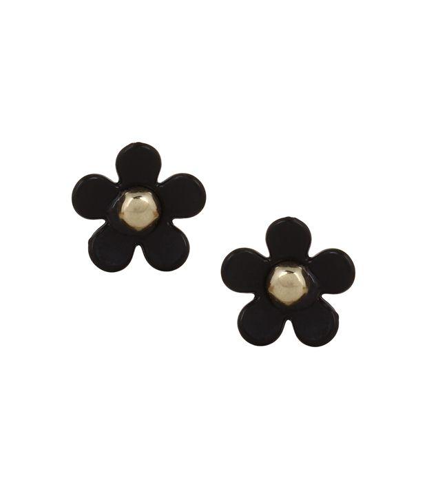 Fayon Black Alloy Earrings